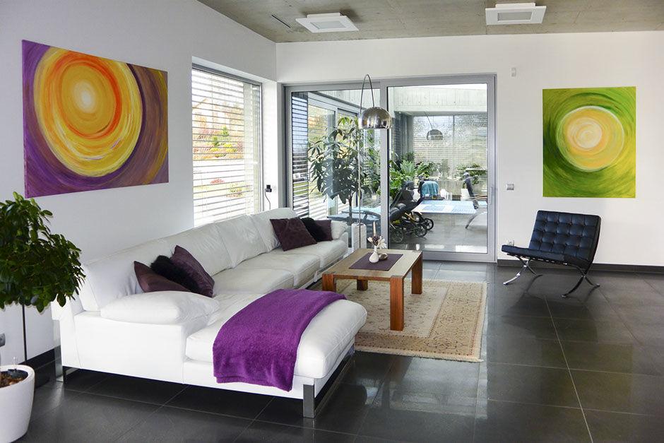Moderní osobní abstraktní obrazy Jane H. vinteriéru domu