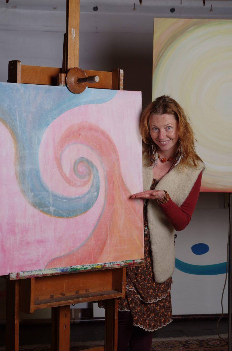 """Moderní abstraktní obraz """"Já jsem"""""""