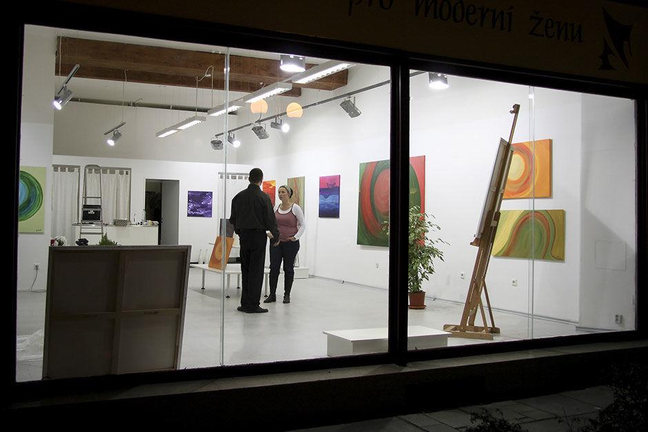 Moderní abstraktní obrazy Jane H. -1. výstava