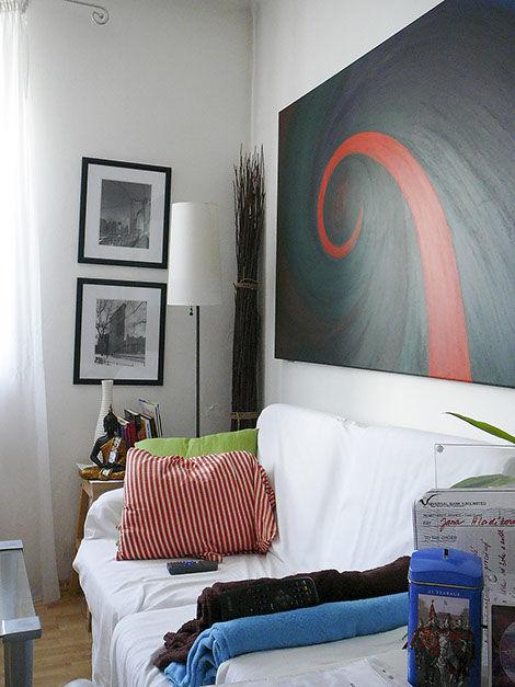 """Moderní abstraktní obraz """"Cesta"""" vinteriéru"""
