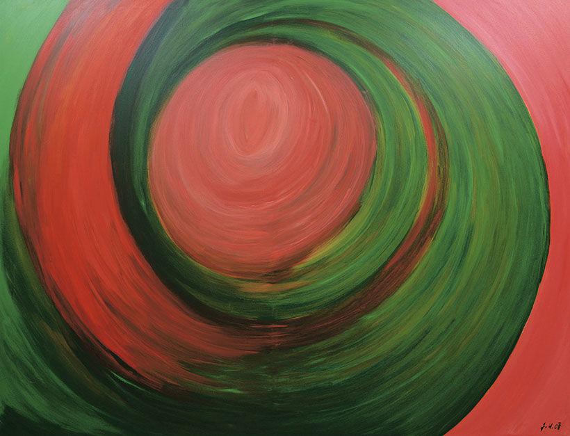 """Moderní abstraktní obraz """"Pouto"""""""