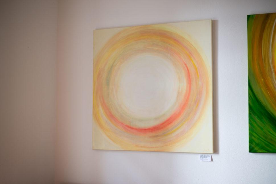"""Moderní abstraktní obraz """"Soulad"""" - výstava Fér café, České Budějovice"""