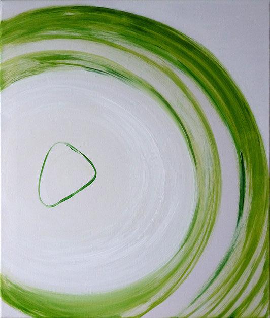 """Moderní abstraktní obraz Jane H . zcyklu """"Osobní obrazy"""" - Propojení"""