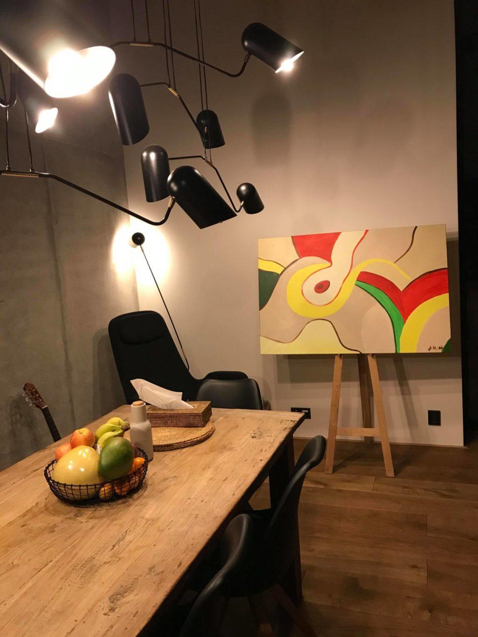 Moderní osobní abstraktní obraz Jane H. vinteriéru domu