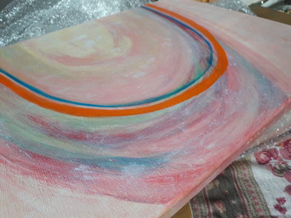 """Moderní abstraktní obraz """"Trojice"""" - detail4"""