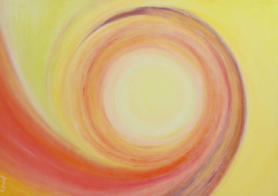 """Moderní abstraktní obraz """"Bezpodmínečná láska"""""""