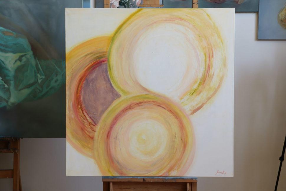 """Moderní abstraktní obraz """"Vnitřní síla"""""""