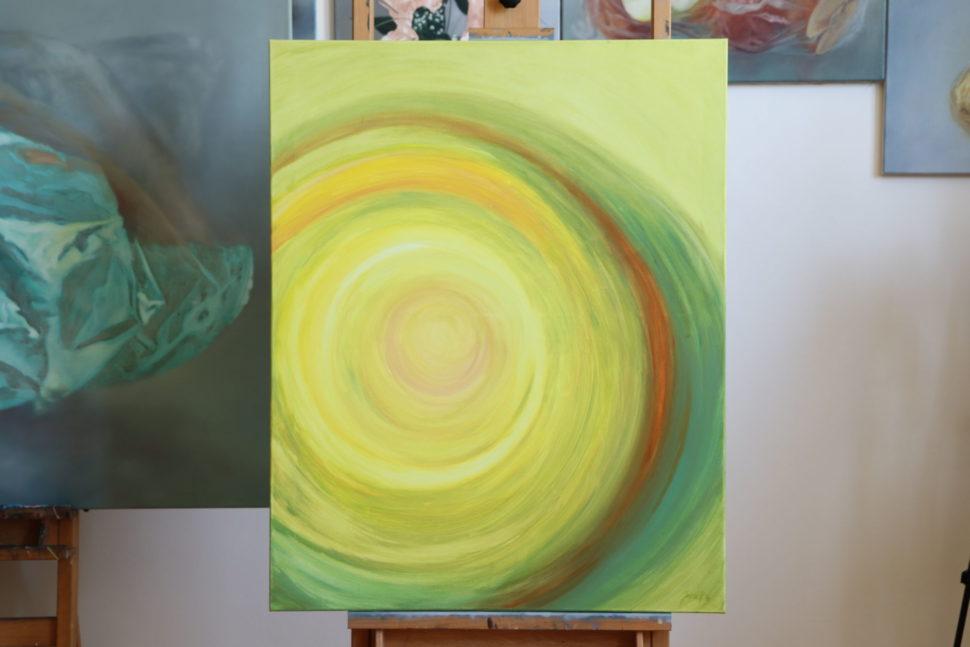"""Moderní abstraktní obraz """"Bez obav"""""""