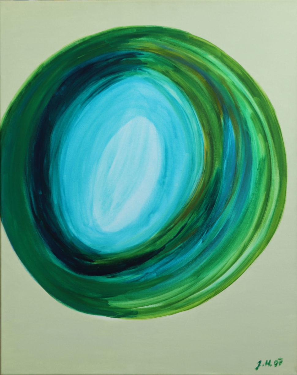 """Moderní abstraktní obraz """"Oko"""""""