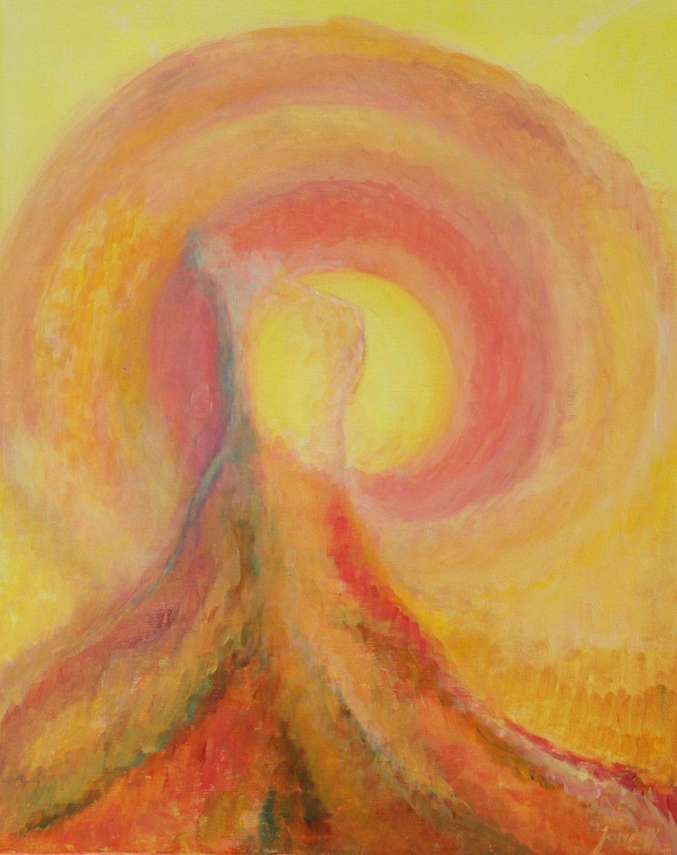 abstraktní obraz Síla ženy - láska