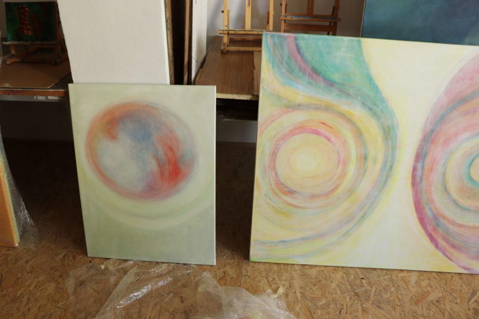 """Moderní abstraktní obraz """"Propojení"""""""