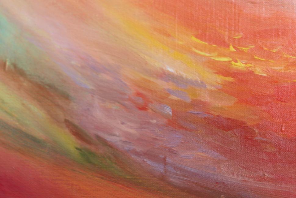 """Moderní abstraktní obraz """"Zrození""""- detail"""