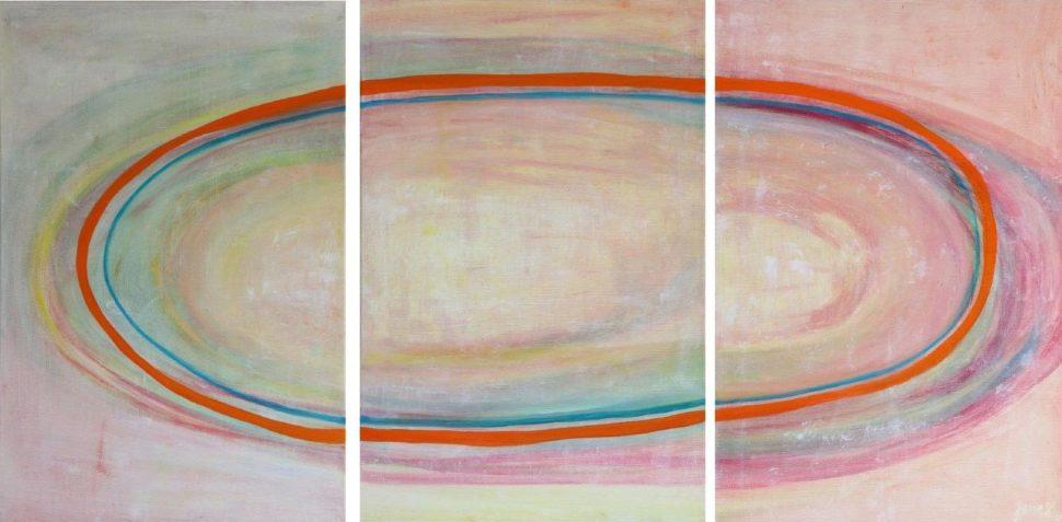 """Moderní abstraktní obraz """"Trojice"""""""