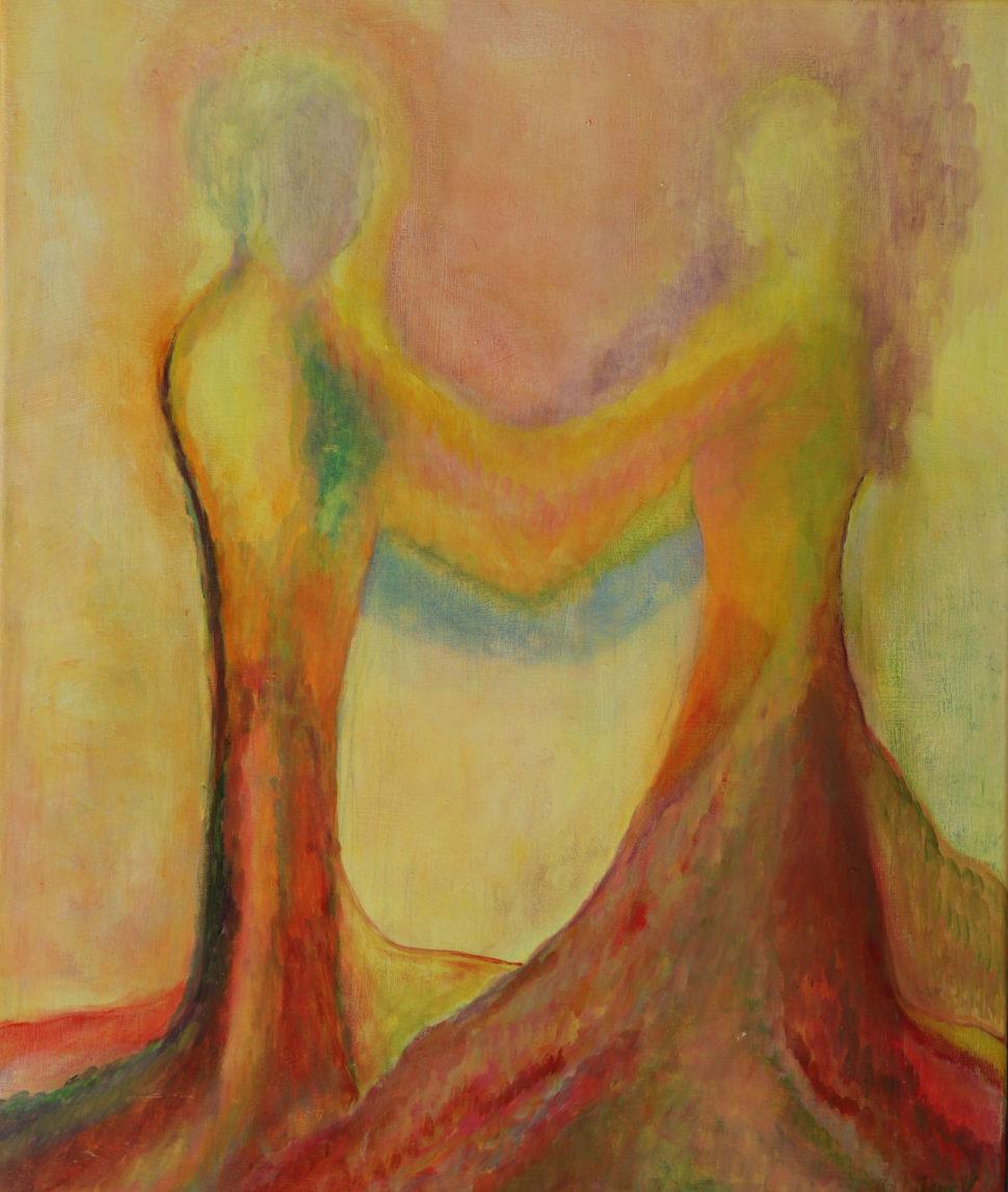 """Moderní abstraktní obraz """"Pár"""""""